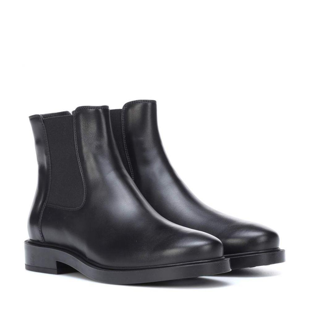 トッズ Tod's レディース ブーツ チェルシーブーツ シューズ・靴【Leather Chelsea boots】Black