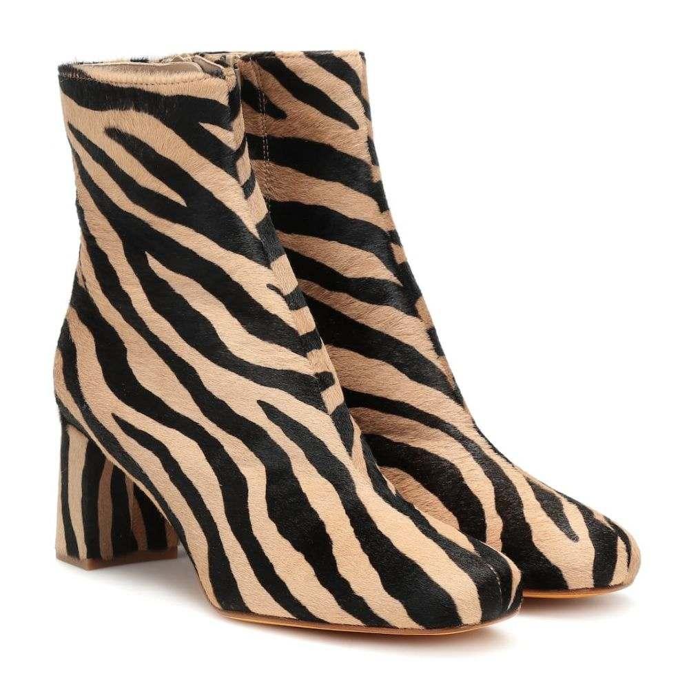 マリアム ナッシアー ザデー Maryam Nassir Zadeh レディース ブーツ ショートブーツ シューズ・靴【Agnes calf hair ankle boots】Zebra