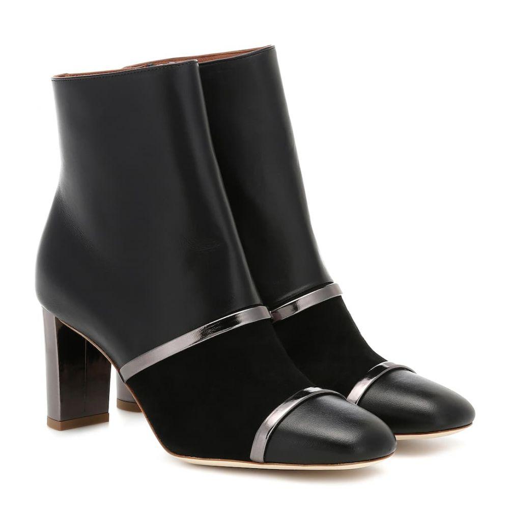 マローンスリアーズ Malone Souliers レディース ブーツ ショートブーツ シューズ・靴【Dakota leather ankle boots】Black/Anthracite
