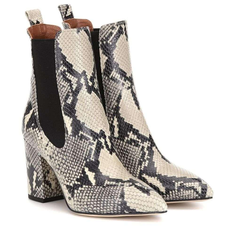 パリ テキサス Paris Texas レディース ブーツ ショートブーツ シューズ・靴【Snake-effect leather ankle boots】Natural