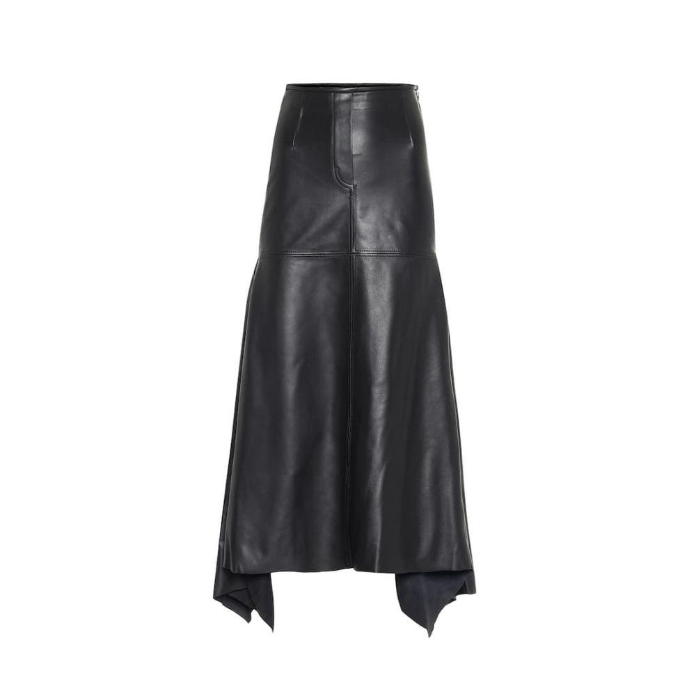 エラリー Ellery レディース ひざ丈スカート スカート【Riccardo leather midi skirt】Black