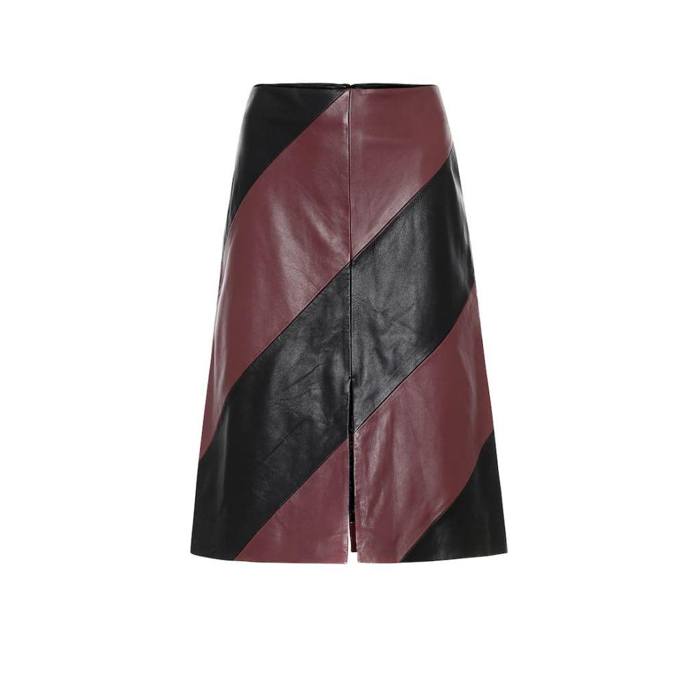 スタンドスタジオ Stand Studio レディース ひざ丈スカート スカート【Andrea leather midi skirt】Black Plum