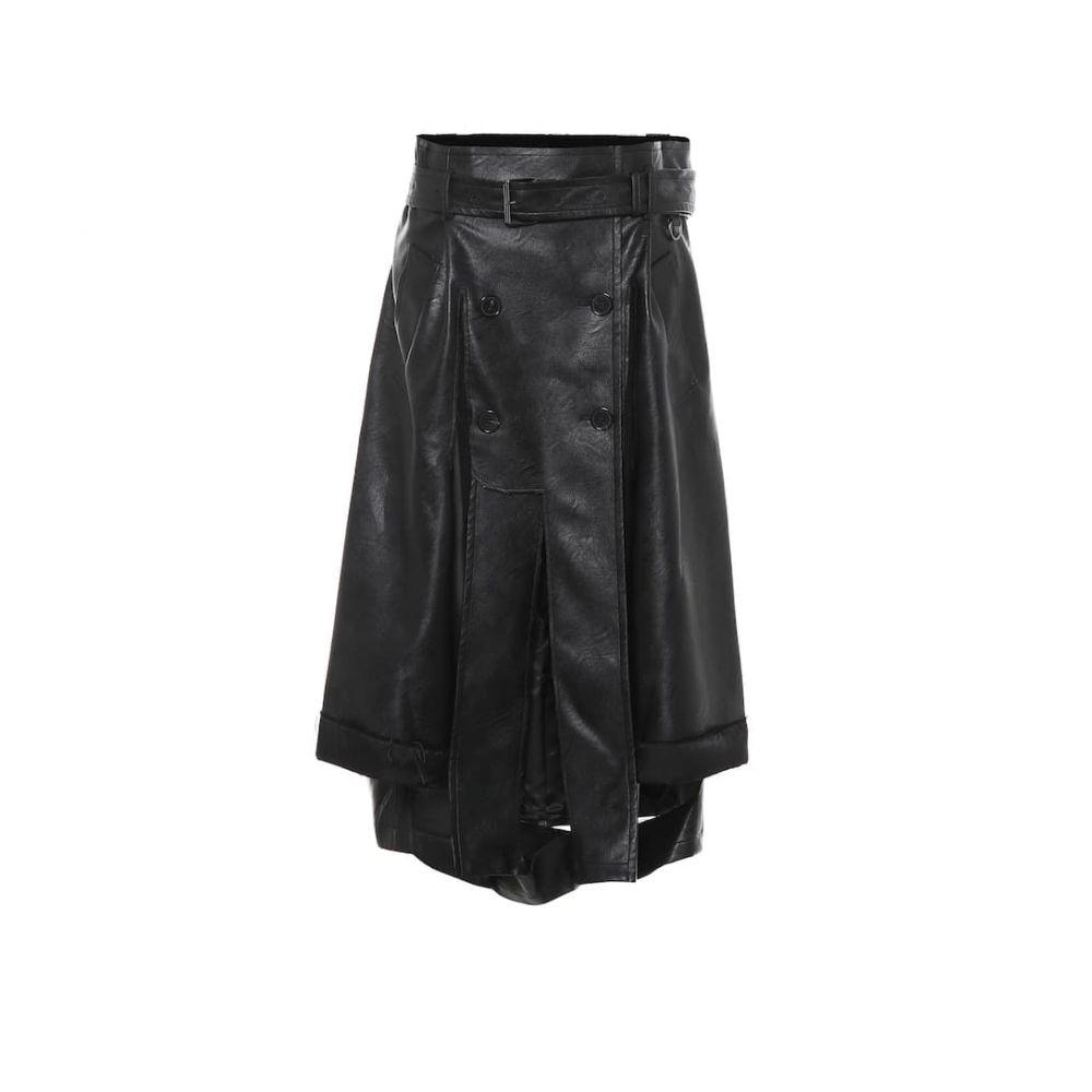 メゾン マルジェラ Maison Margiela レディース ひざ丈スカート スカート【Faux leather midi skirt】