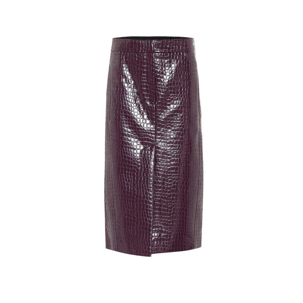 ティビ Tibi レディース ひざ丈スカート ペンシルスカート スカート【Croc-effect patent pencil skirt】Burnt Raspberry