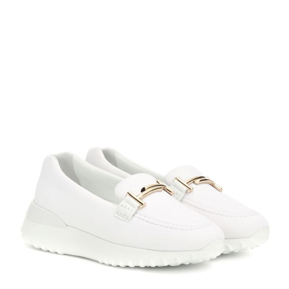 トッズ Tod's レディース ローファー・オックスフォード シューズ・靴【Double T leather loafers】Bianco