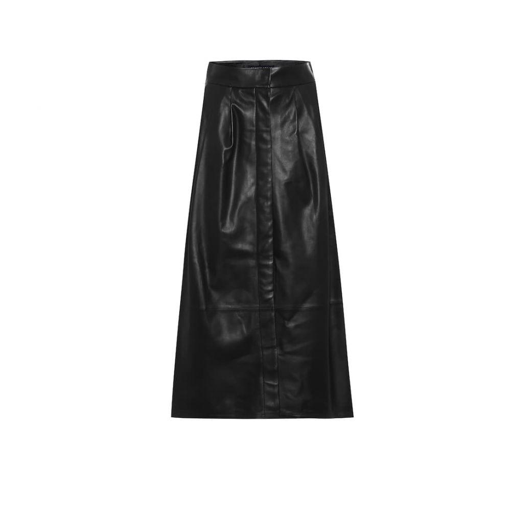 ゼイネプアルケイ Zeynep Arcay レディース ひざ丈スカート スカート【Leather A-line midi skirt】Black
