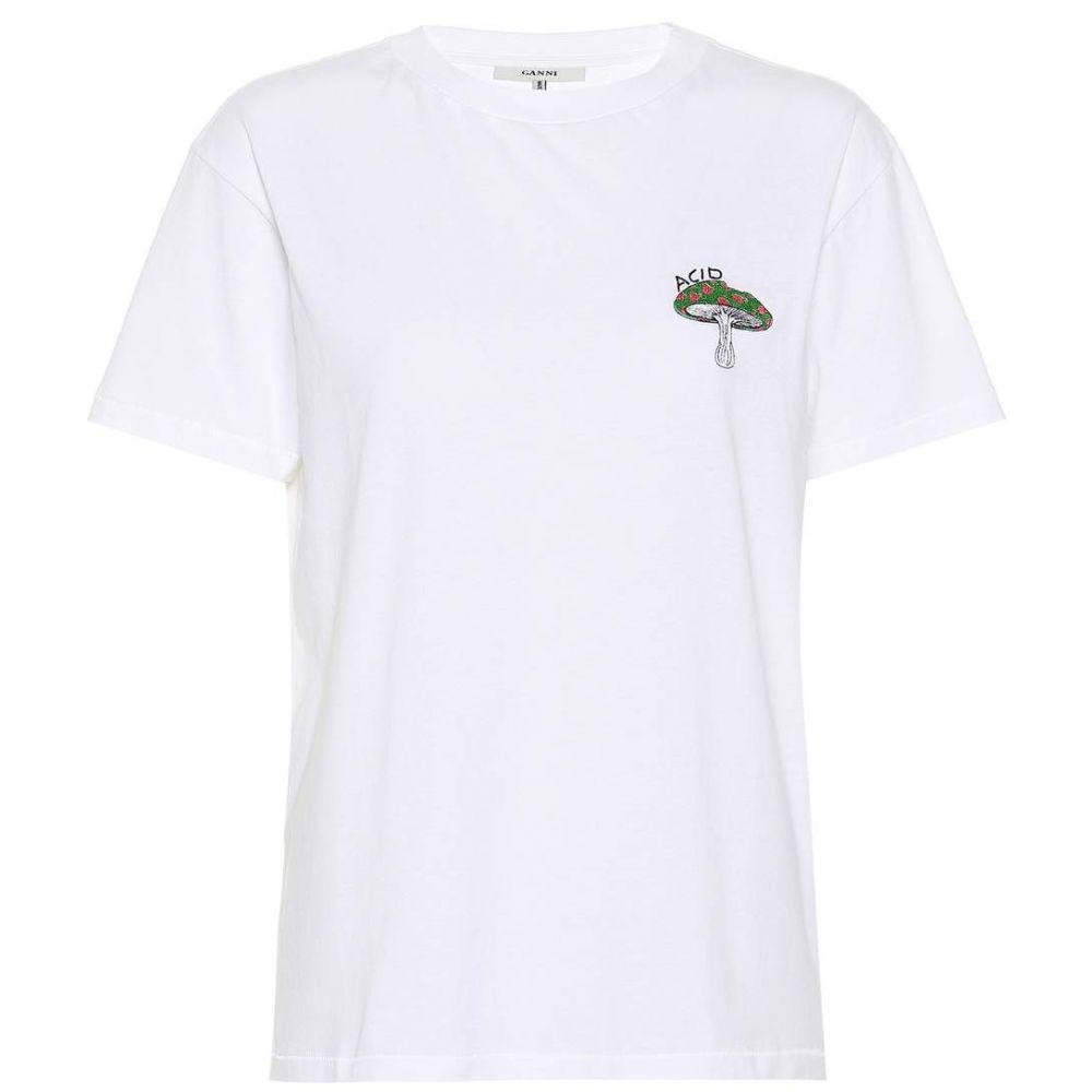 ガニー Ganni レディース Tシャツ トップス【Harway printed T-shirt】Bright White