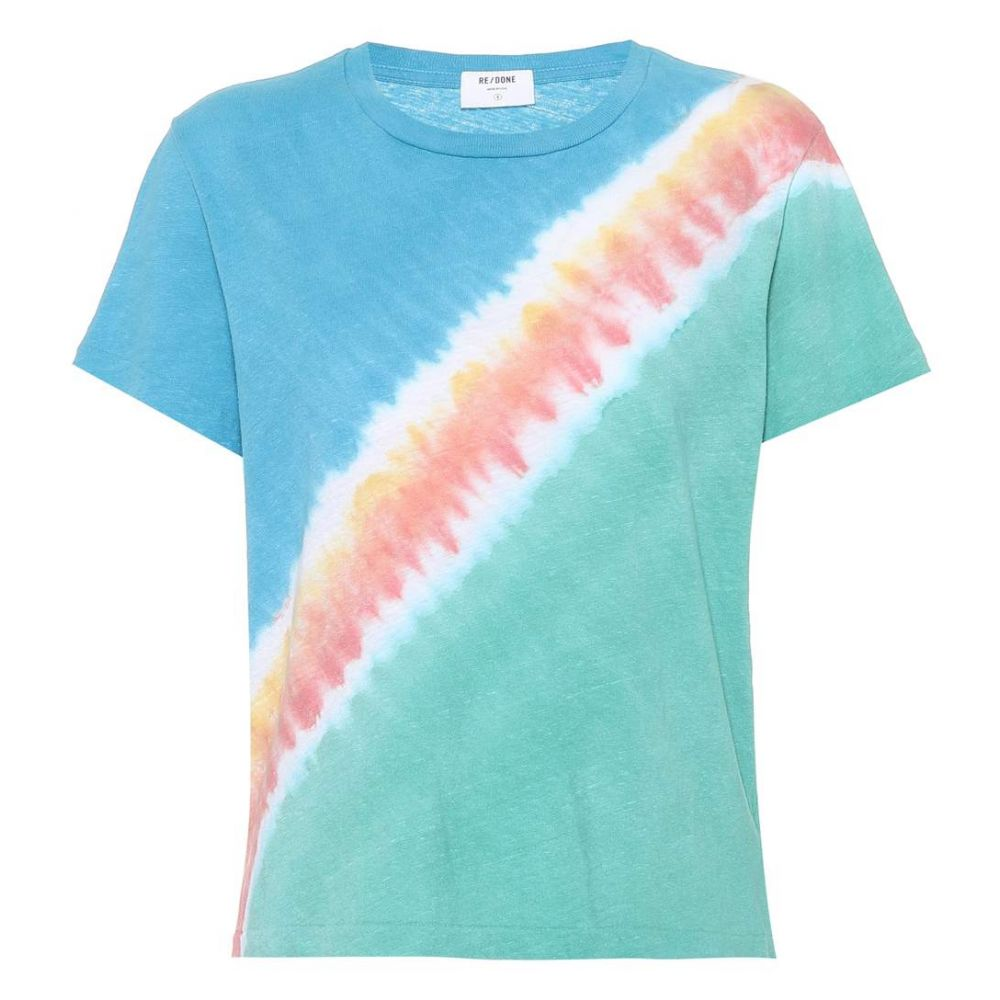 リダン Re/Done レディース Tシャツ トップス【Tie-dye cotton T-shirt】Freedom