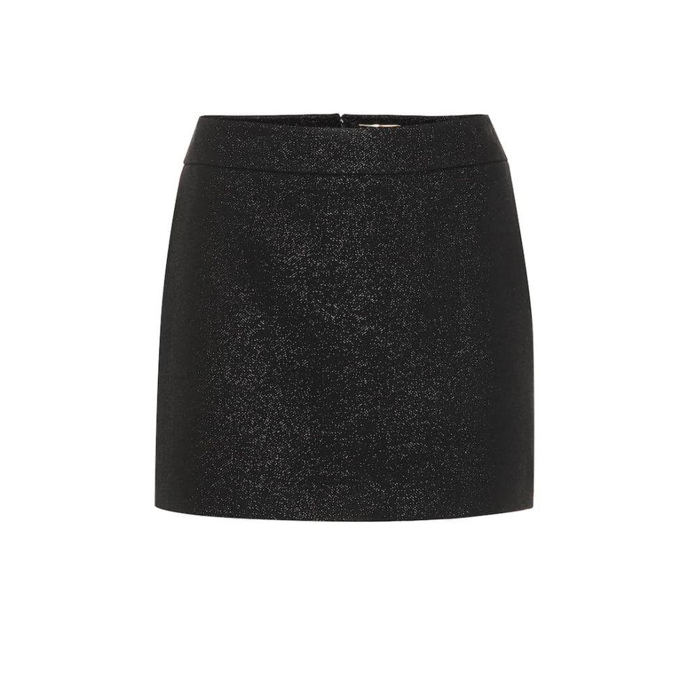 イヴ サンローラン Saint Laurent レディース ミニスカート スカート【Wool-blend miniskirt】Noir