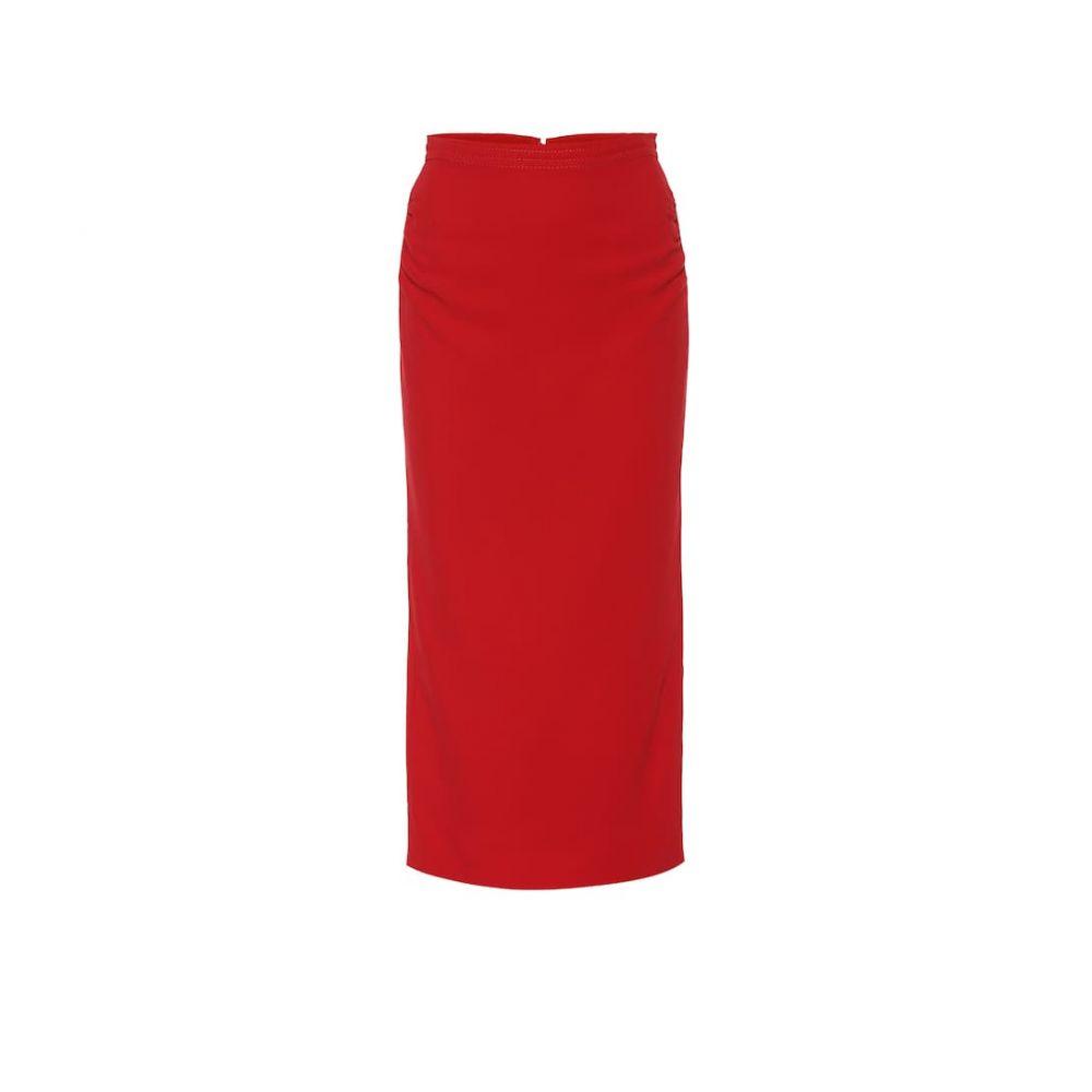 ヌメロ ヴェントゥーノ N21 レディース ひざ丈スカート ペンシルスカート スカート【Crepe pencil skirt】Red