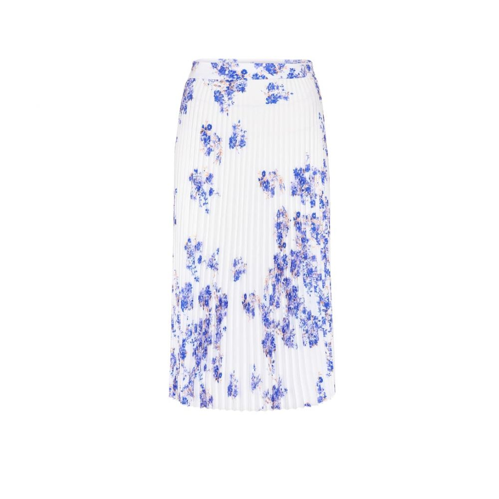 ヴェトモン Vetements レディース ひざ丈スカート スカート【Floral pleated crepe skirt】White Flowers