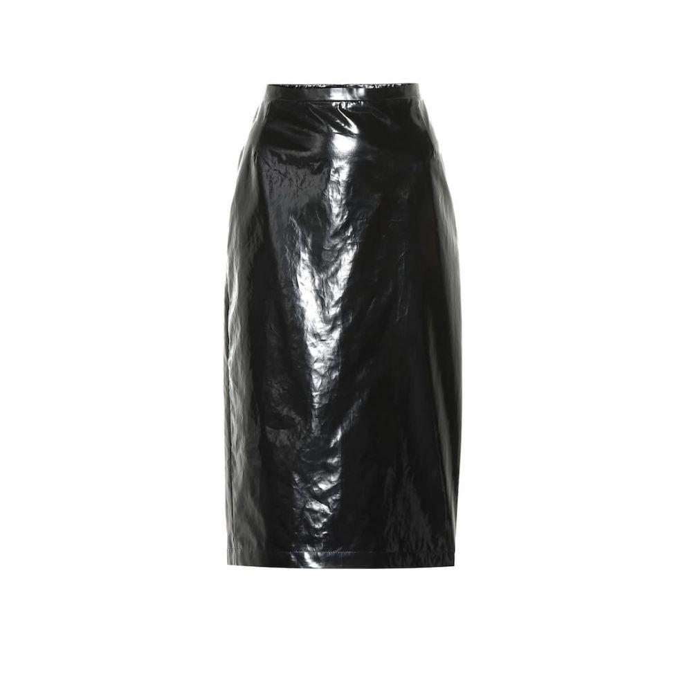 ヌメロ ヴェントゥーノ N21 レディース ひざ丈スカート ペンシルスカート スカート【Lacquered cotton pencil skirt】Black