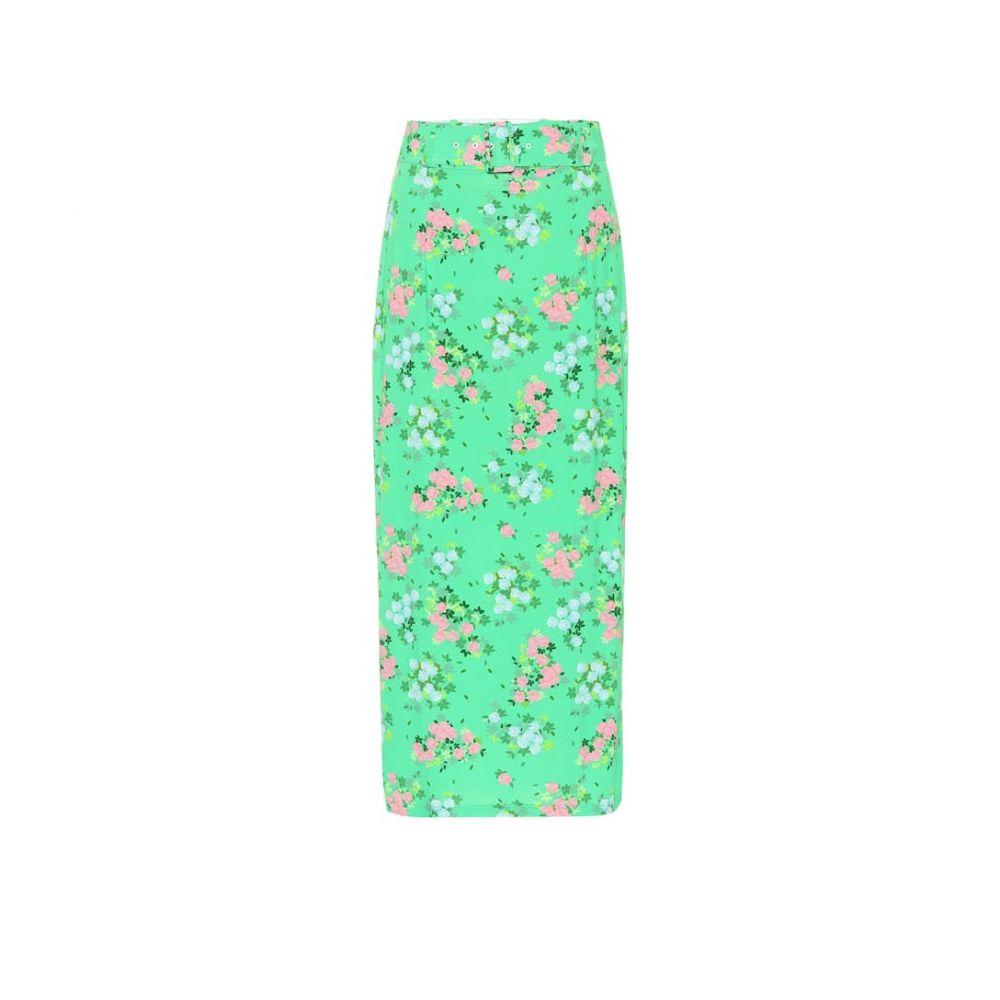 ベルナデッタ Bernadette レディース ひざ丈スカート スカート【Monica floral stretch-jersey skirt】Small Roses Green