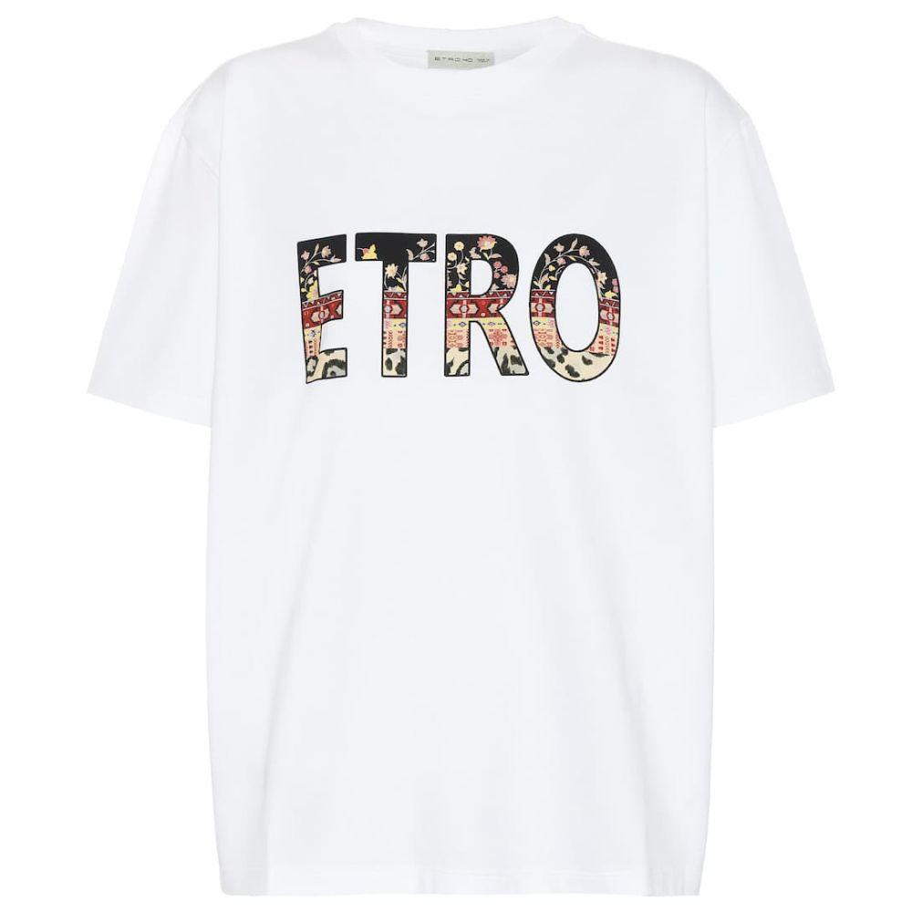 エトロ Etro レディース Tシャツ トップス【Cotton T-shirt】