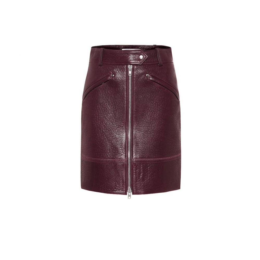 ケンゾー Kenzo レディース ミニスカート スカート【Leather miniskirt】bordeaux