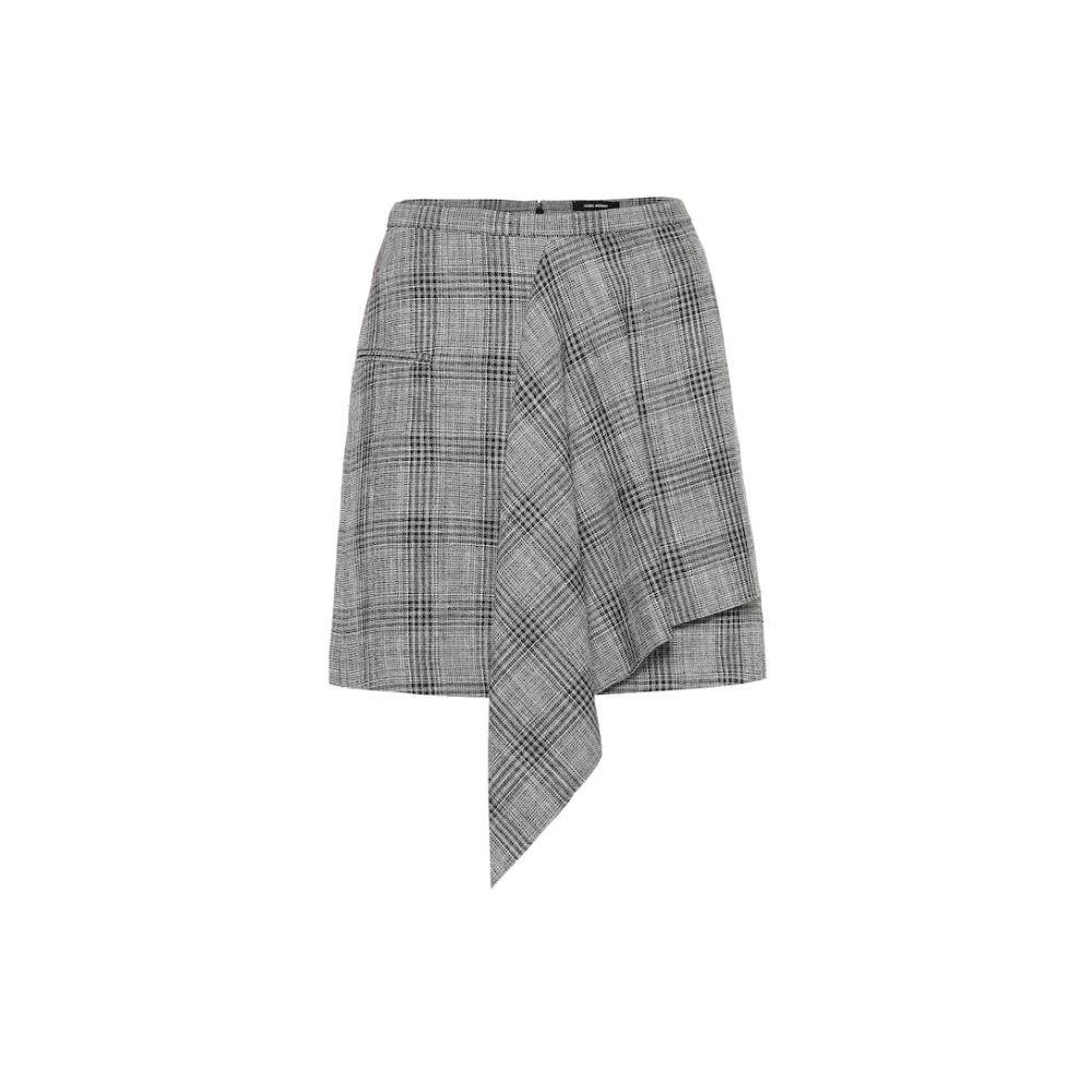 イザベル マラン Isabel Marant レディース ミニスカート スカート【Doleyli checked cotton and wool skirt】Black/Ecru