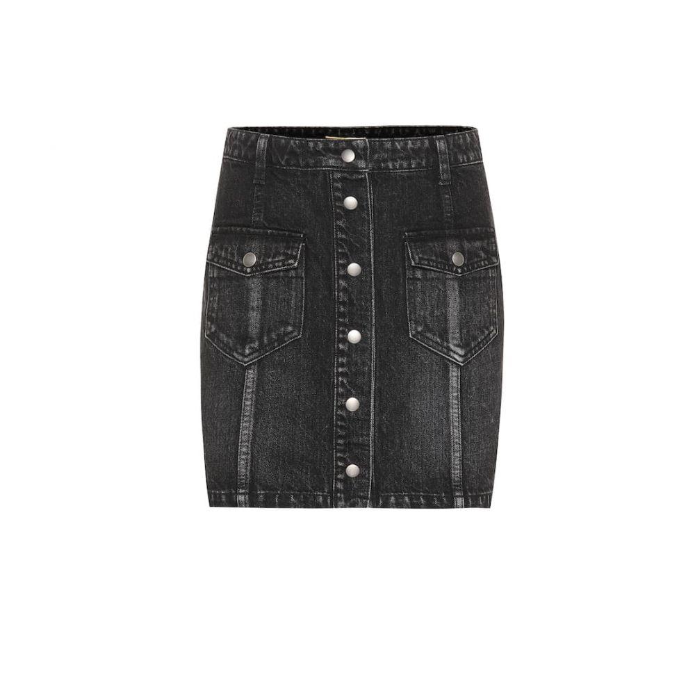 イヴ サンローラン Saint Laurent レディース ミニスカート スカート【Eighties denim miniskirt】Sandy Black