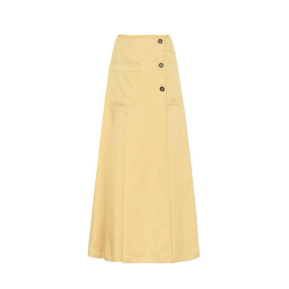 プラン C Plan C レディース ロング・マキシ丈スカート スカート【Twill maxi skirt】Medium Senape