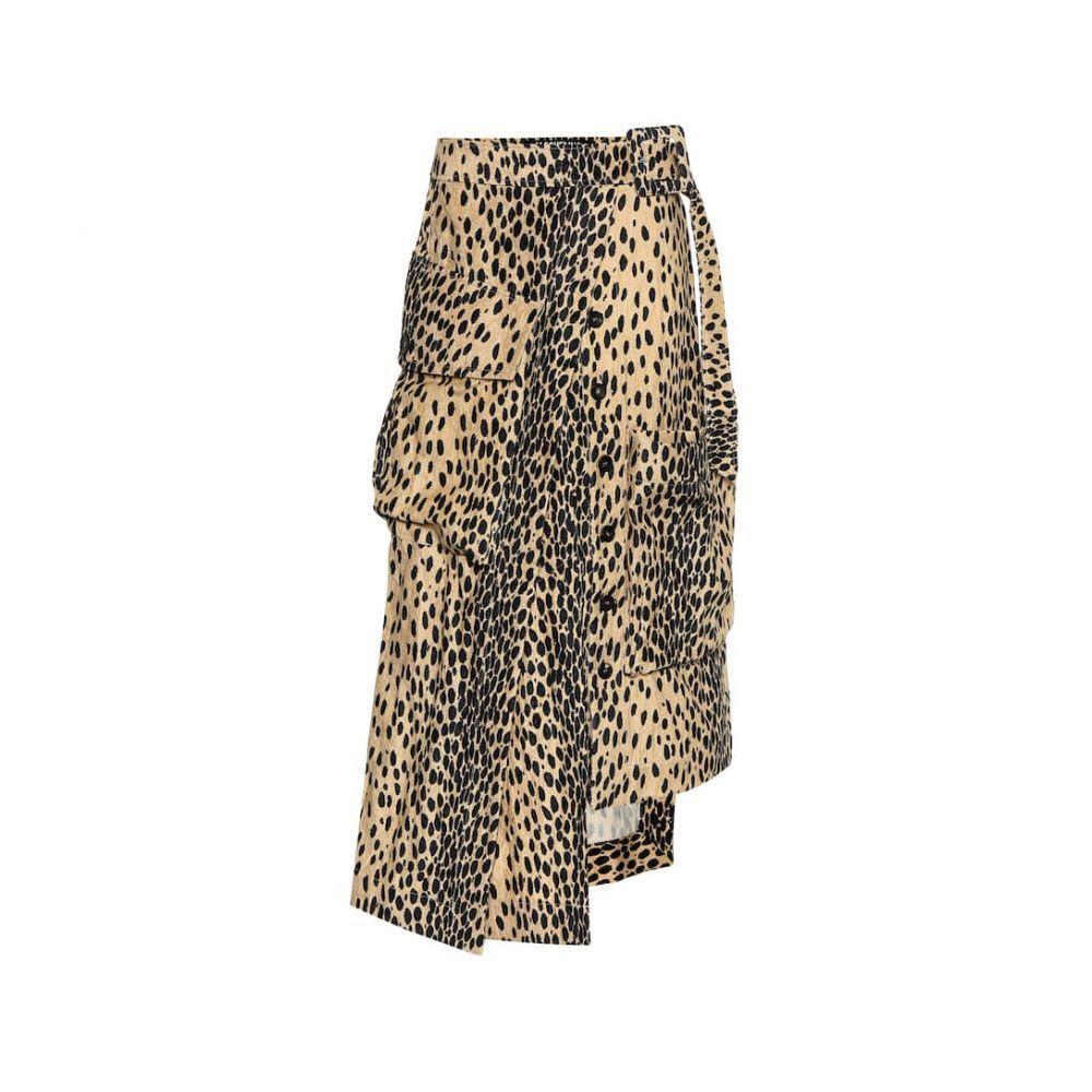 ジャックムス Jacquemus レディース ひざ丈スカート スカート【La Jupe Thika midi skirt】Printed Leopard