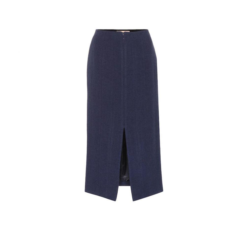 ブロック コレクション Brock Collection レディース ひざ丈スカート スカート【Pietrasole midi skirt】Navy