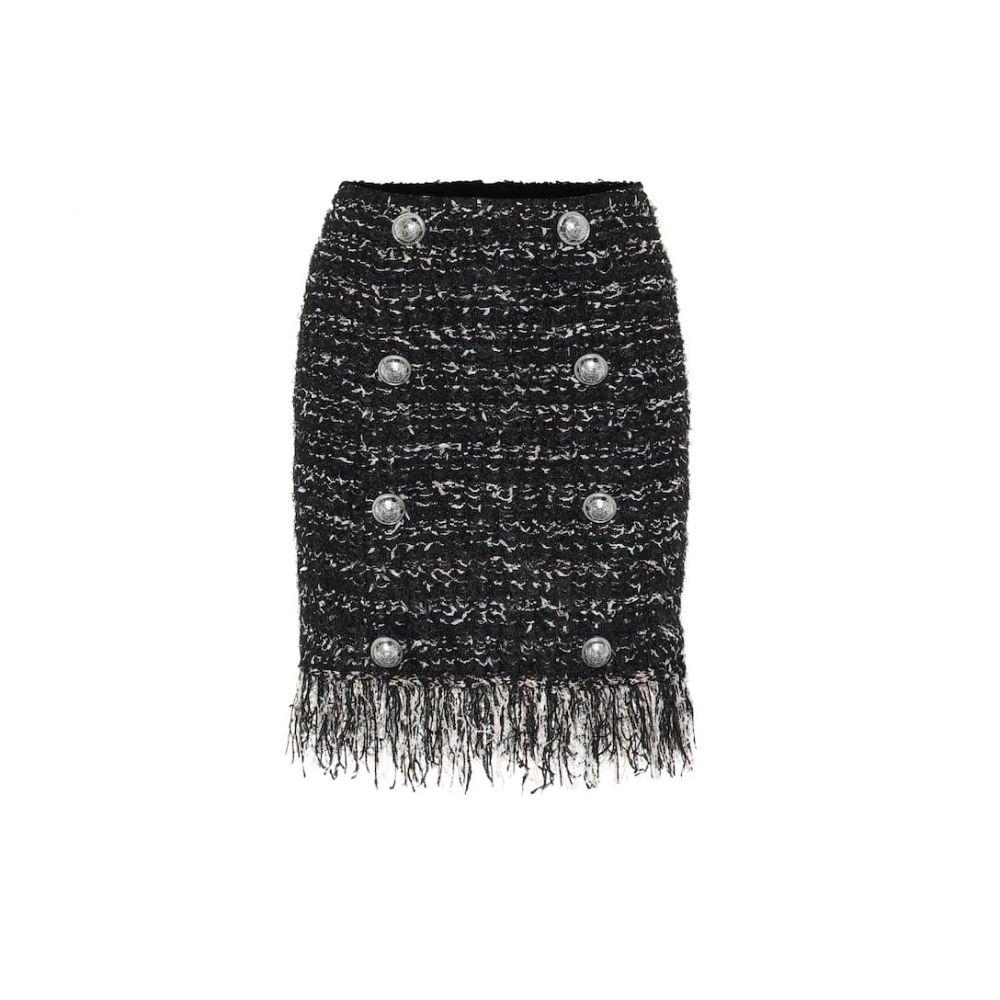 バルマン Balmain レディース ミニスカート スカート【Tweed miniskirt】Noir-Multico