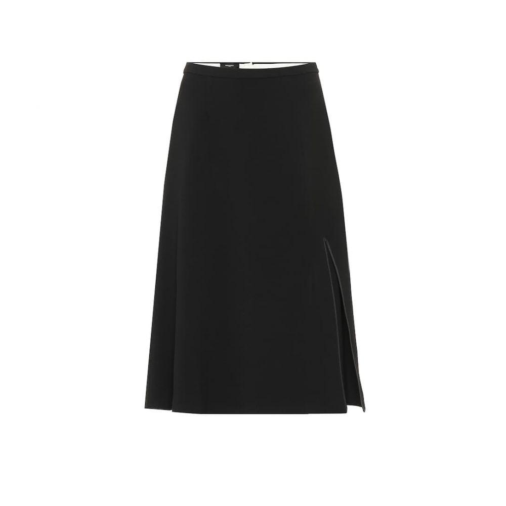 ロシャス Rochas レディース ひざ丈スカート スカート【Stretch wool-crepe midi skirt】Black