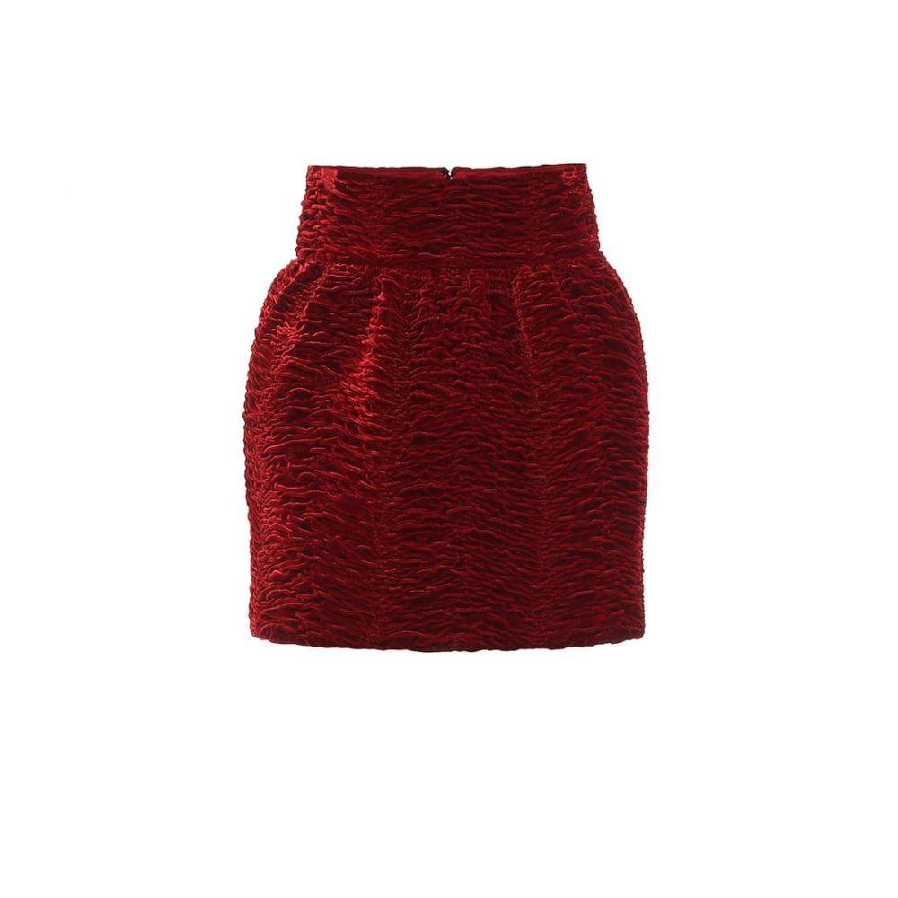 イヴ サンローラン Saint Laurent レディース ミニスカート スカート【Velvet miniskirt】Rouge Fume