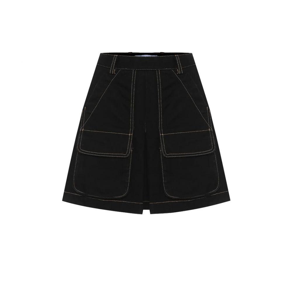 マシュー アダムズ ドーラン Matthew Adams Dolan レディース ミニスカート スカート【Cotton-denim miniskirt】Raw Black