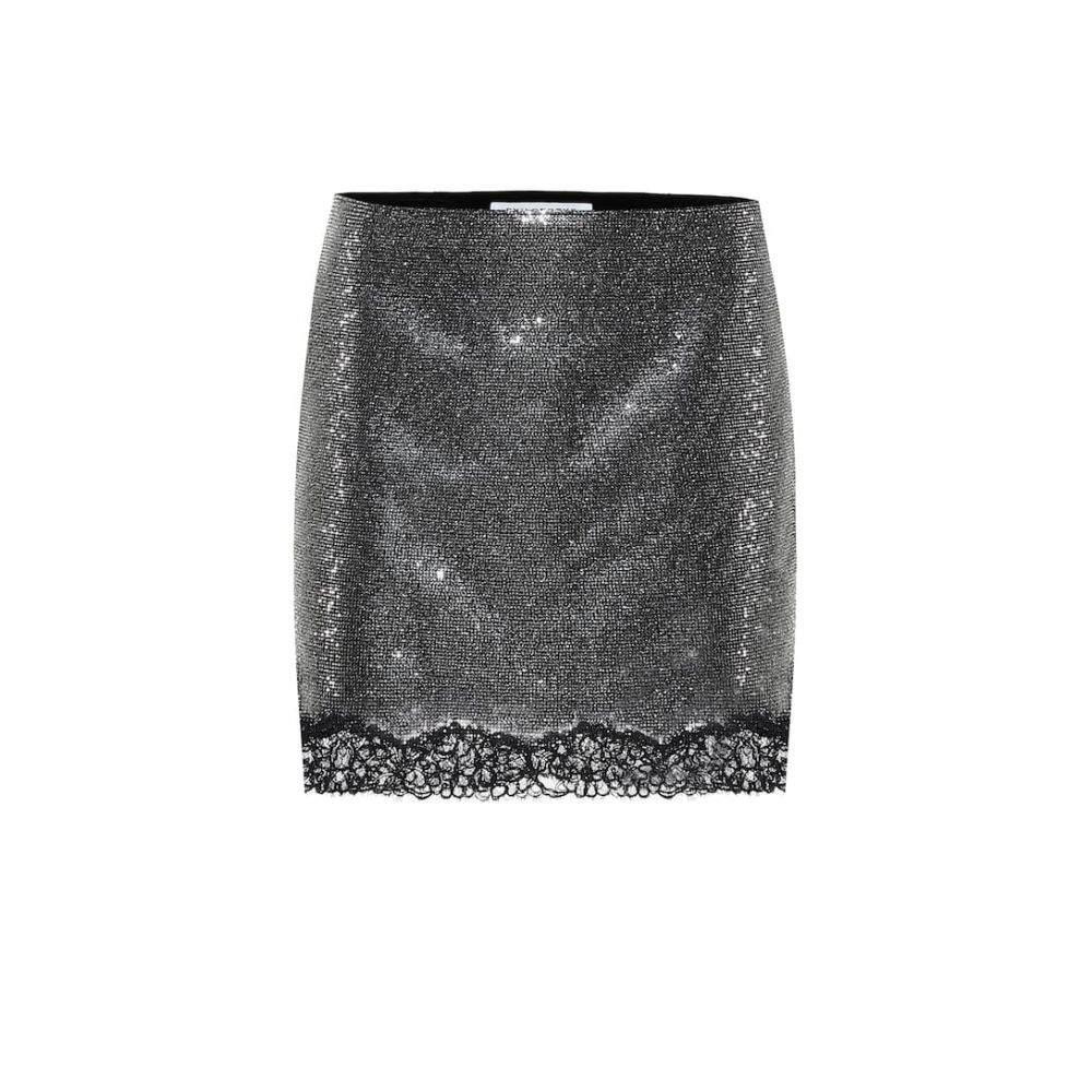 フィロソフィ ディ ロレンツォ セラフィニ Philosophy Di Lorenzo Serafini レディース ミニスカート スカート【Crystal lace-trimmed miniskirt】Fantasy Dark Grey