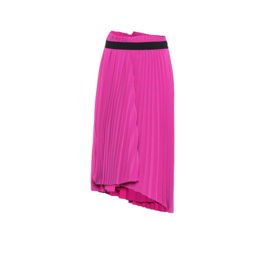 バレンシアガ Balenciaga レディース ひざ丈スカート スカート【Pleated crepe skirt】Peony Pink