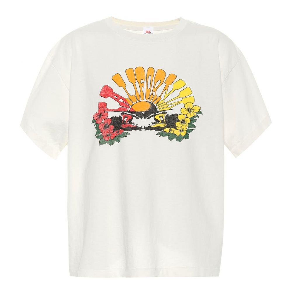 リダン Re/Done レディース Tシャツ トップス【x Hanes printed cotton T-shirt】