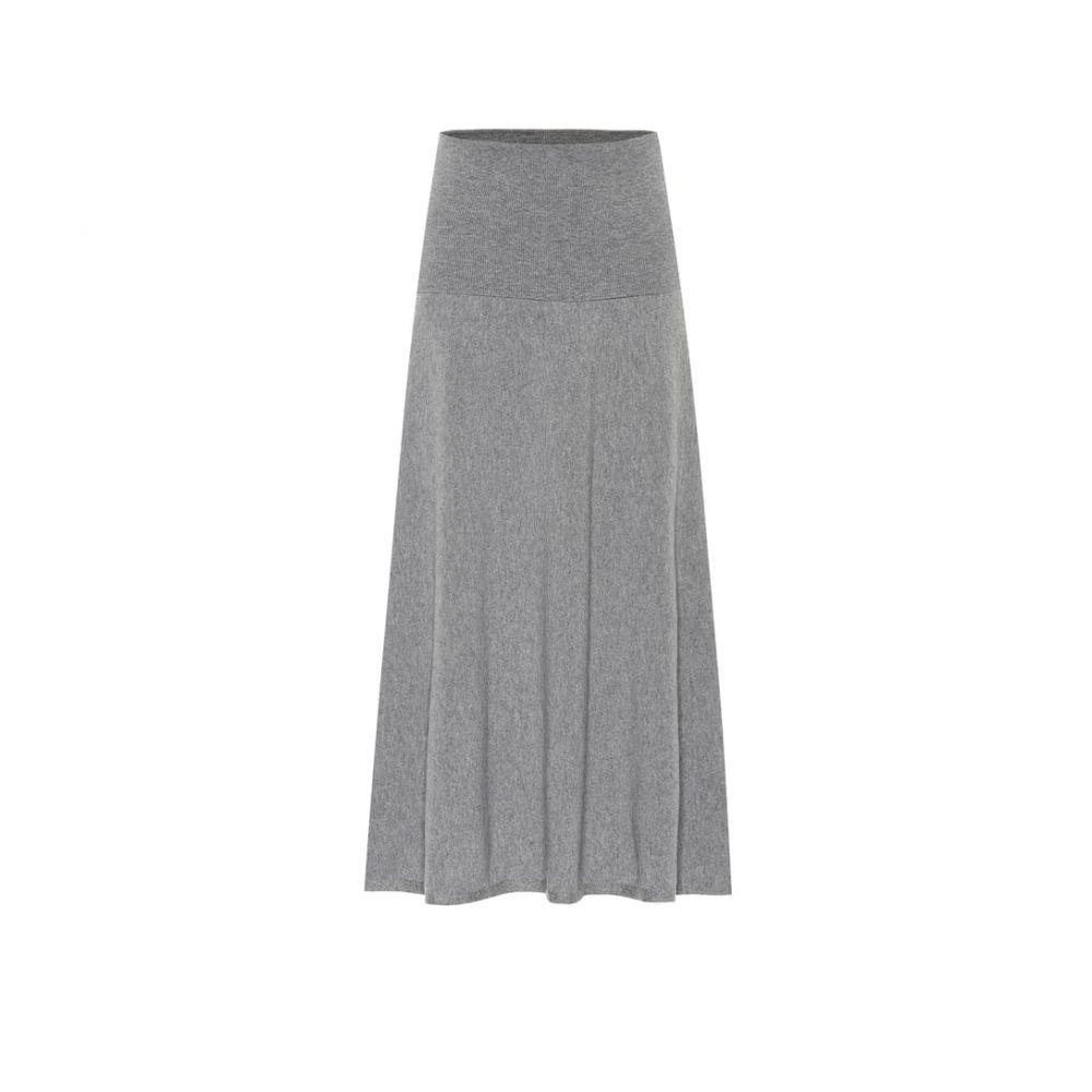 ステラ マッカートニー Stella McCartney レディース ひざ丈スカート スカート【Wool-blend knit midi skirt】Grey Melange