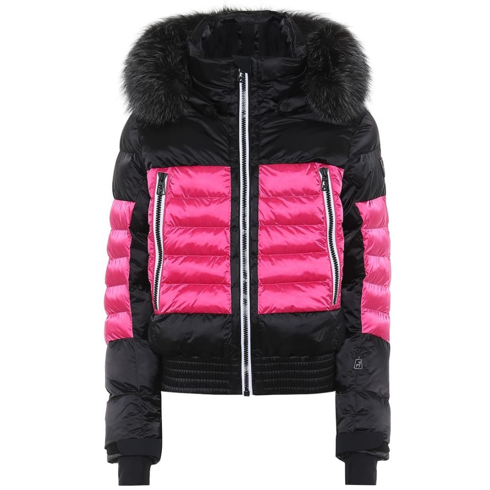 トニー ザイラー Toni Sailer レディース スキー・スノーボード ジャケット アウター【Muriel fur-trimmed ski jacket】Black Pink
