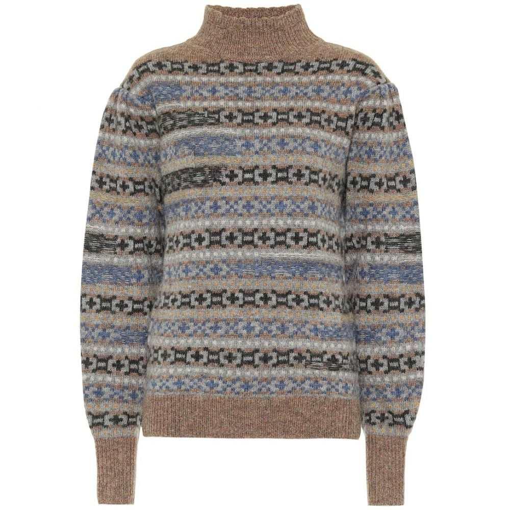 イザベル マラン Isabel Marant, Etoile レディース ニット・セーター トップス【Ned intarsia wool sweater】Greyish Blue
