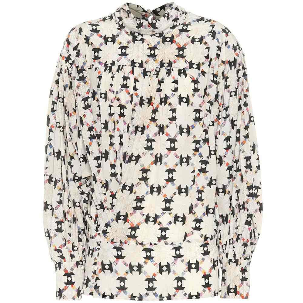 イザベル マラン Isabel Marant レディース トップス 【Brandi printed stretch-silk top】Ecru