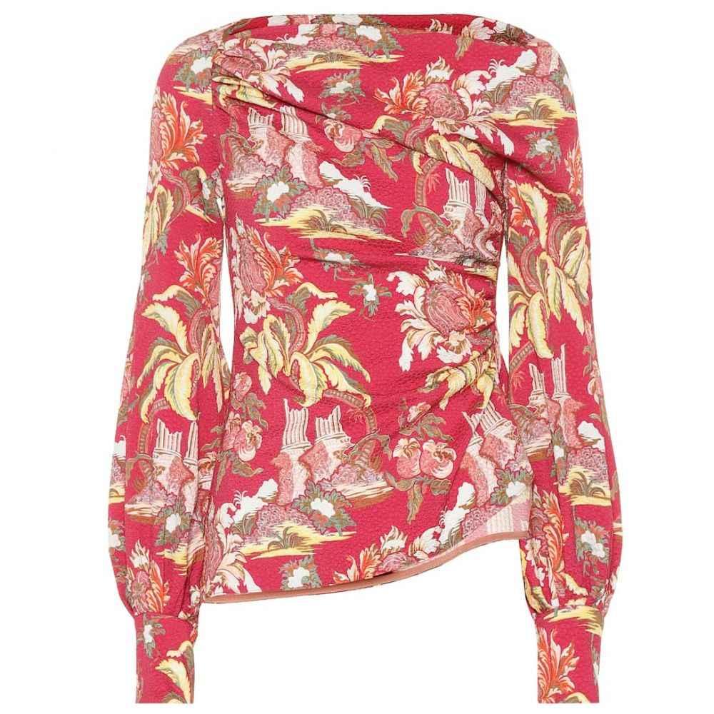 ピーター ピロット Peter Pilotto レディース ブラウス・シャツ トップス【Asymmetrical printed blouse】Flower Canopy Red
