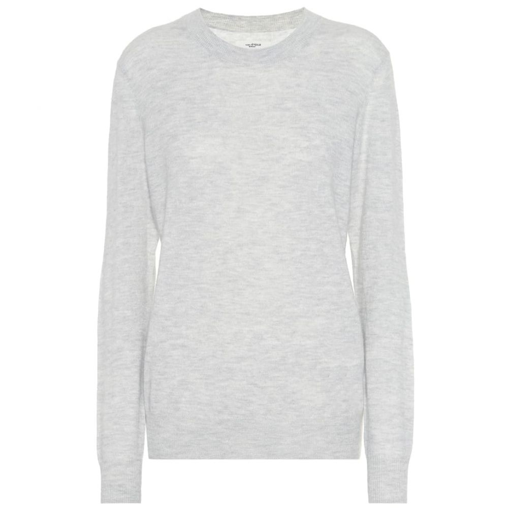 イザベル マラン Isabel Marant, Etoile レディース ニット・セーター トップス【Blizzy alpaca and wool-blend sweater】Light Grey