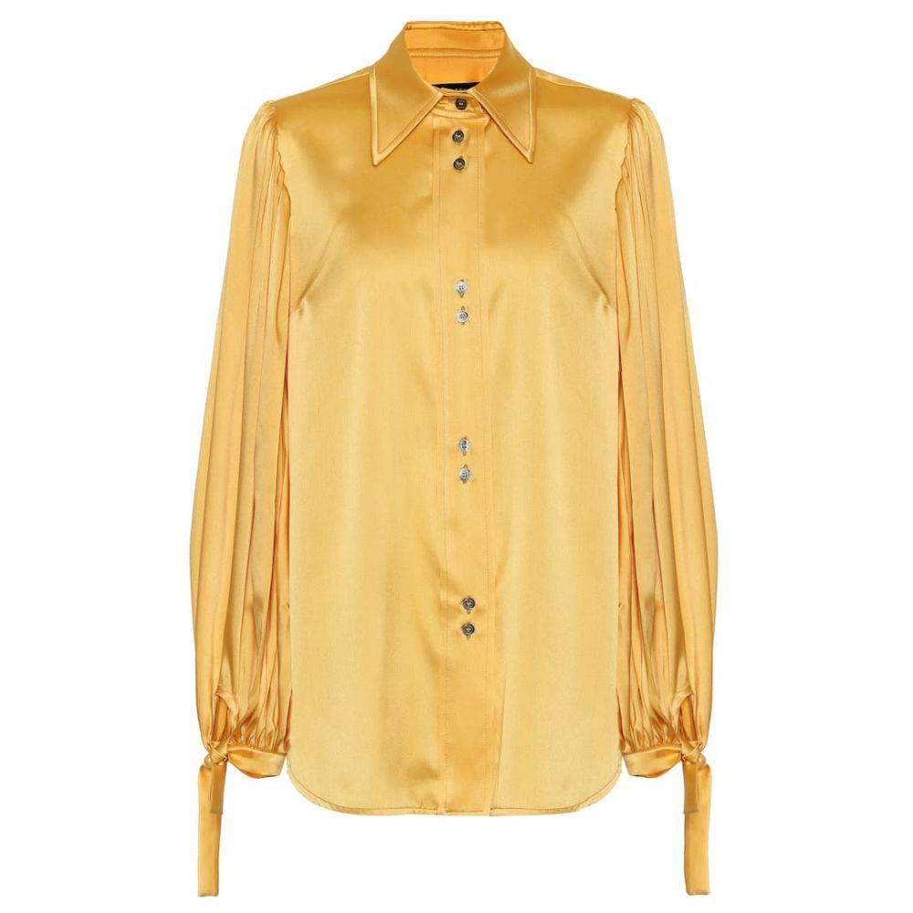 エラリー Ellery レディース ブラウス・シャツ トップス【Monpi stretch-silk satin blouse】Bananna