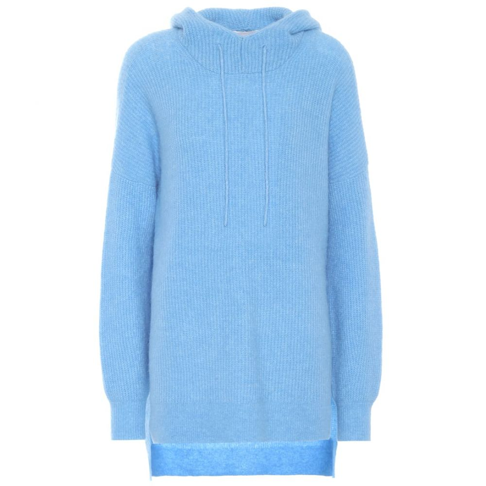 ガニー Ganni レディース ニット・セーター トップス【Hooded alpaca and wool-blend sweater】Azure Blue