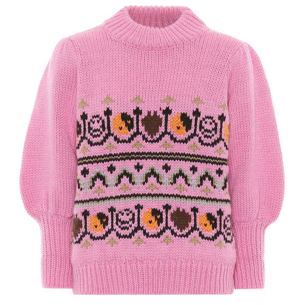 ガニー Ganni レディース ニット・セーター トップス【Wool and alpaca jacquard sweater】Multicolour