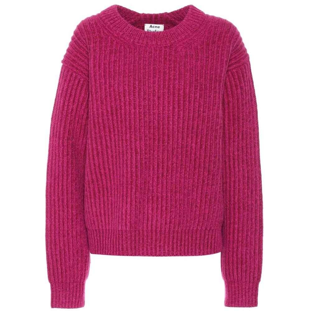 アクネ ストゥディオズ Acne Studios レディース ニット・セーター トップス【Wool sweater】Magenta Pink