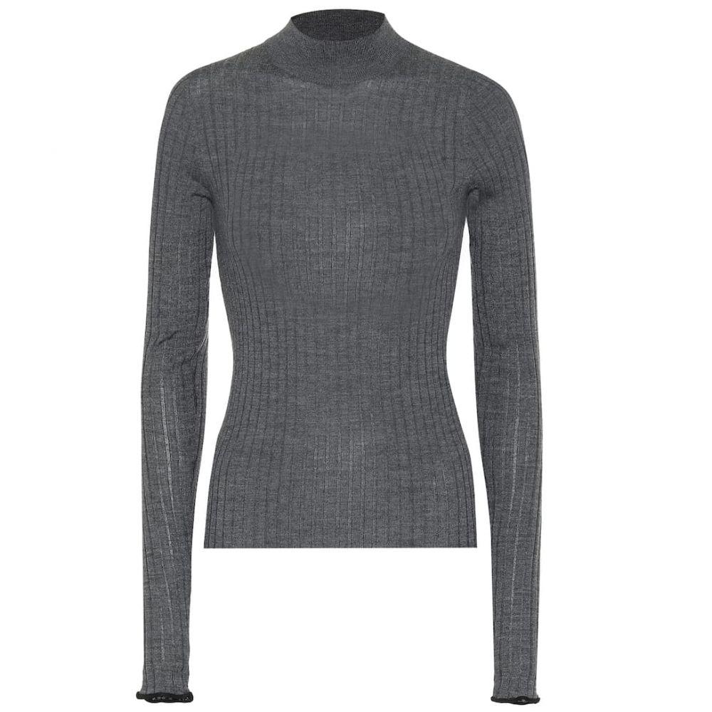 アクネ ストゥディオズ Acne Studios レディース ニット・セーター トップス【Ribbed wool sweater】Anthracite Grey