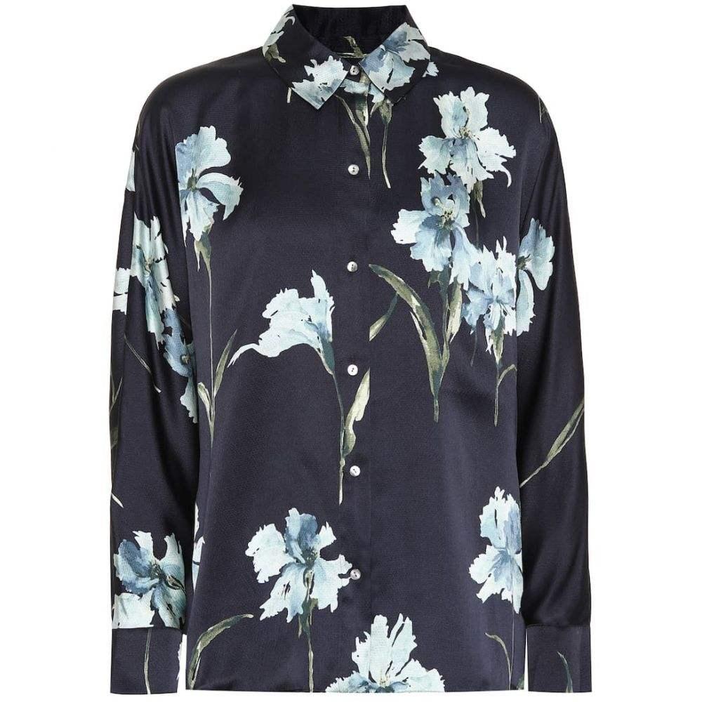ヴィンス Vince レディース ブラウス・シャツ トップス【Floral silk shirt】