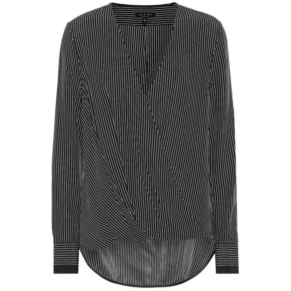 ラグ&ボーン Rag & Bone レディース ブラウス・シャツ トップス【Victor striped silk blouse】blkwhstrip
