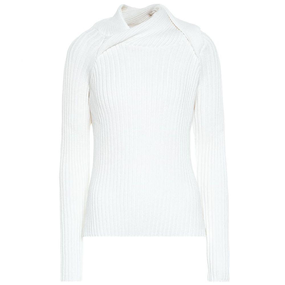 ワイプロジェクト Y/PROJECT レディース ニット・セーター トップス【Ribbed-knit wool-blend sweater】White