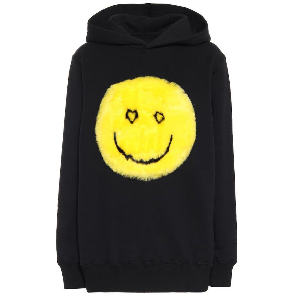キリン Kirin レディース パーカー トップス【Oversized cotton hoodie】Black Yellow