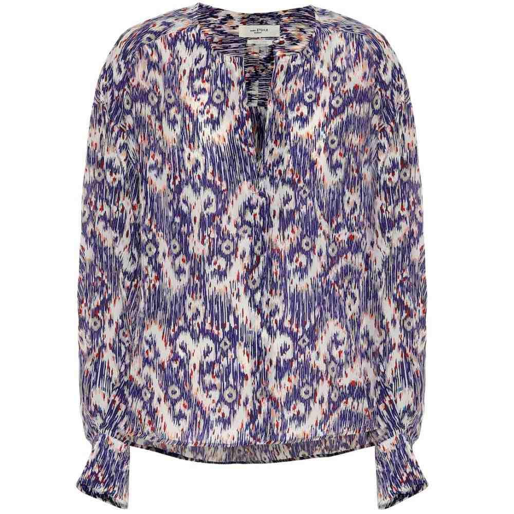 イザベル マラン Isabel Marant, Etoile レディース ブラウス・シャツ トップス【Yacah printed silk blouse】Blue