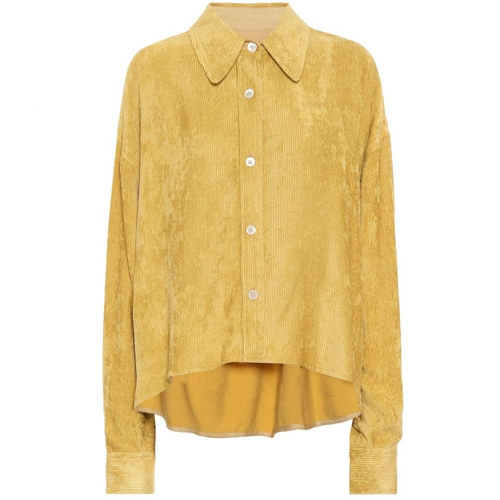 イザベル マラン Isabel Marant レディース ブラウス・シャツ トップス【Fanao ribbed velvet shirt】Dusty Yellow