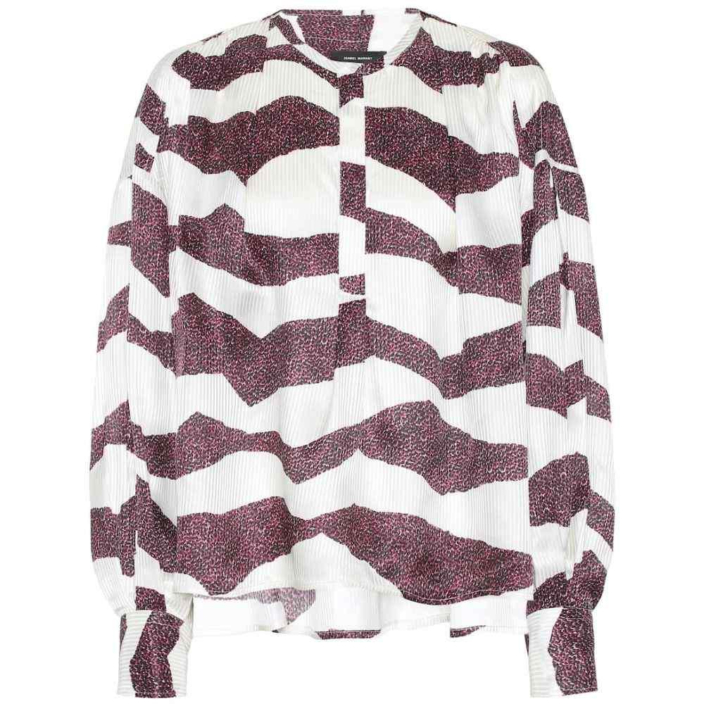 イザベル マラン Isabel Marant レディース ブラウス・シャツ トップス【Rosy silk-blend jacquard blouse】Ecru
