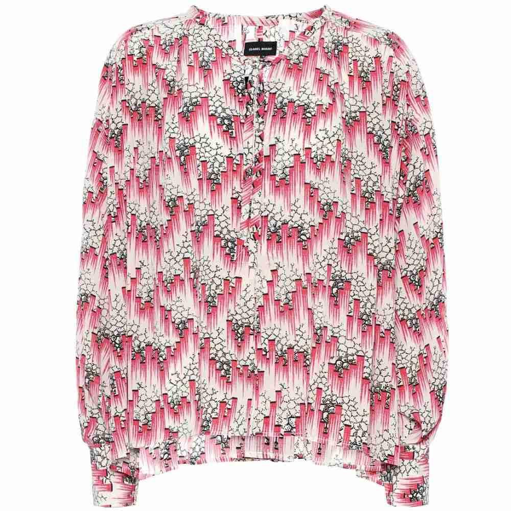 イザベル マラン Isabel Marant レディース ブラウス・シャツ トップス【Amba printed silk-blend crepe blouse】Pink